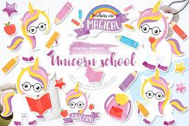 Css & svg waves animation. Unicorn School Graphic By Prettygrafik Creative Fabrica In 2020 Hand Lettering Cards Illustration Design Alphabet Illustration
