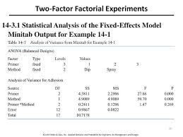 3 Level Fractional Factorial Design Minitab Enm 310 Design Of Experiments And Regression Analysis
