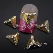 10pc 3d alloy rhinestone nail art flower glitters stickers diy decorations