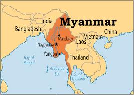 Resultado de imagen para Mapa Birmania Myanmar