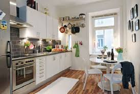Rectangle Kitchen Design Hunky Design Ideas Of Small Apartment Kitchens With Wooden Floors