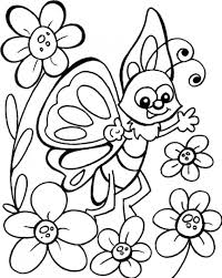 Coloring Pages Flowers And Butterflies Nauhoituscom All About