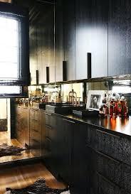 backsplash for dark countertops black cabinets with mirrored kitchen backsplash dark countertops