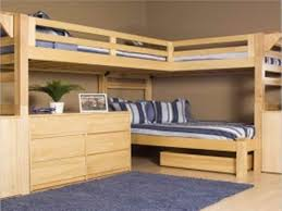 image of full size loft bed with desk underneath stairs ideas