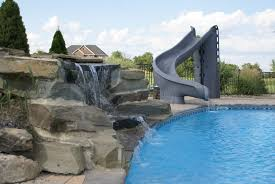 inground pools with diving board and slide. Inground Pools With Slides Diving Board And Slide