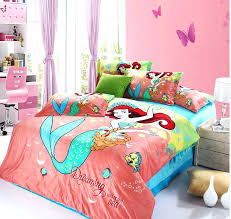 little mermaid bedding full size sizes sheets pink twin se