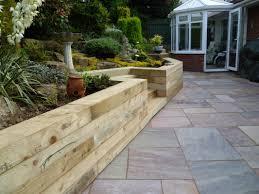 pretty garden retaining wall