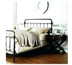Wrought Iron Bed Frames Queen Size Antique Uk Black Metal Frame King ...