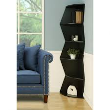chic unique shelving units design with white corner shelf units