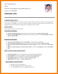 Resume Job Format Pdf File Sample Letter For Application Cv