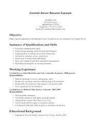 Fine Dining Resume Example Server Job Duties Resume Server Sample
