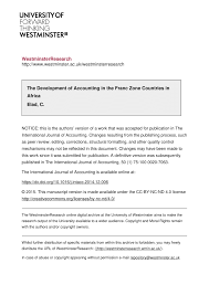 French Statutory Chart Of Accounts Pdf The Development Of Accounting In The Franc Zone