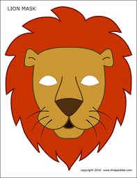 New free coloring pages stay creative at home with our latest. Lion Mask Free Printable Templates Coloring Pages Firstpalette Com