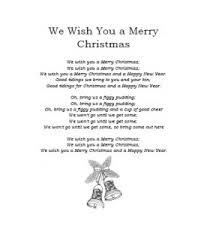 Christmas Carol Lyrics: We Wish You a Merry Christmas - iChild