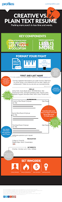 Resume Navigation INFOGRAPHIC] Plain Text Resume Template Profiles 96