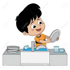 boy washing dishes clipart. Simple Clipart Kid Help Their Parents Wash Dishes For Boy Washing Clipart O
