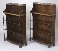 bookcases for sale. Plain Bookcases Regencystyle Inlaid Mahogany Open Bookcases To For Sale A