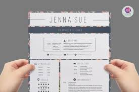Vintage resume template , cover letter template , reference letter template  / Floral resume / 1 page CV template
