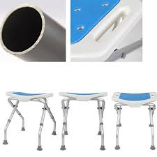 foldable shower bath stools aluminum alloy shower folding seat chair diity aid curved seat shower chair anti slip mats adjule in 3 height for