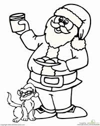 Santa Claus Printables Santa Claus And Cat Worksheet Education Com