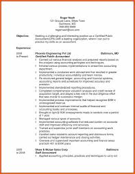 Objective For Accounting Resume New 6 Cpa Resume Objective