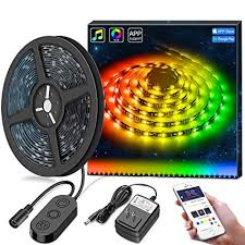 Diy led strip lighting Build Your Own Minger Dreamcolor Led Strip Lights Builtin Ic With App 164ft5m Led Lights Sync To Music Waterproof Rgb Rope Light App 150 Leds Smd 5050 Flexible Strip Amazoncom Amazoncom Minger Dreamcolor Led Strip Lights Builtin Ic With App