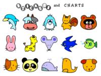 Free Printable Animal Stickers Free Animal Sticker Charts