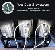 how to build a home brewery beer brewing stand brewing rack single tier