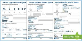 Ancient Egyptian Number System Differentiated Worksheets