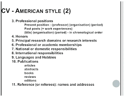 Resume Format Template A Sample Of North Style American Cv