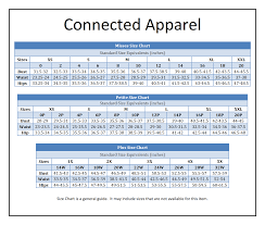 Connected Apparel Via Boscovs In 2019 Size Chart Brand