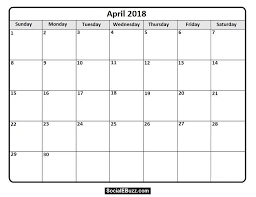 Free Printable 2018 Monthly Calendar Download And Install For Free