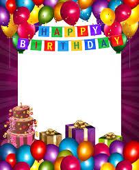 happy birthday frame clipart birthday wish picture frames