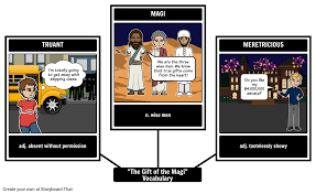 the gift of the magi vocabulary storyboard by rebeccaray