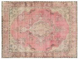 overdyed vintage persian rug x ft 377 x by light pink persian rug