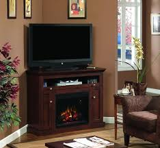 classic flame windsor corner fireplace tv stand in brown cherry