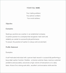 Resume Examples For Cashier Delectable Server Resume Skills Sample Resume For Cashier Head Template