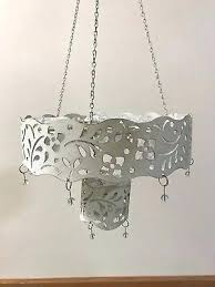 hanging tealight candle holders outdoor cafe chandelier hanging tealight votive candle holder unused