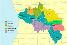 grand river watershed map  history grand rapids