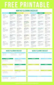 House Cleaning Checklist Printable House Cleaning Checklist Free