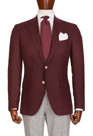 Light Grey And Burgundy Suit Burgundy Jacket With Light Gray Pants Mens Style