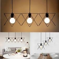 3 in 1 metal vintage ceiling light pendant lamp cage lampshade fixture chandelier indoor lighting
