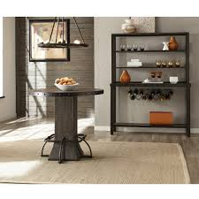 jennings wood round counter height dining table only in distressed walnut