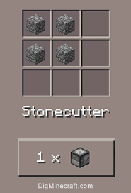 how to make a stonecutter in minecraft. Crafting Recipe For Stonecutter How To Make A In Minecraft DigMinecraft