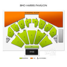Row Seat Number Bmo Harris Pavilion Seating Chart Bmo Harris Pavilion Tickets