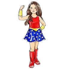Wonder Woman Costume Pattern Impressive Wonder Woman Costume Pattern Sewing Pattern McCalls M48 Girls