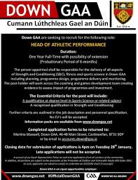down gaa are seeking to recruit for the