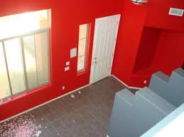 bright red paint walls