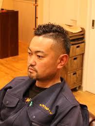 ワイルドな男の髪型ミドルスキンフェード 茨城県北茨城市の男性
