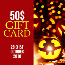 Halloween Gift Cards Halloween Gift Card Template Postermywall